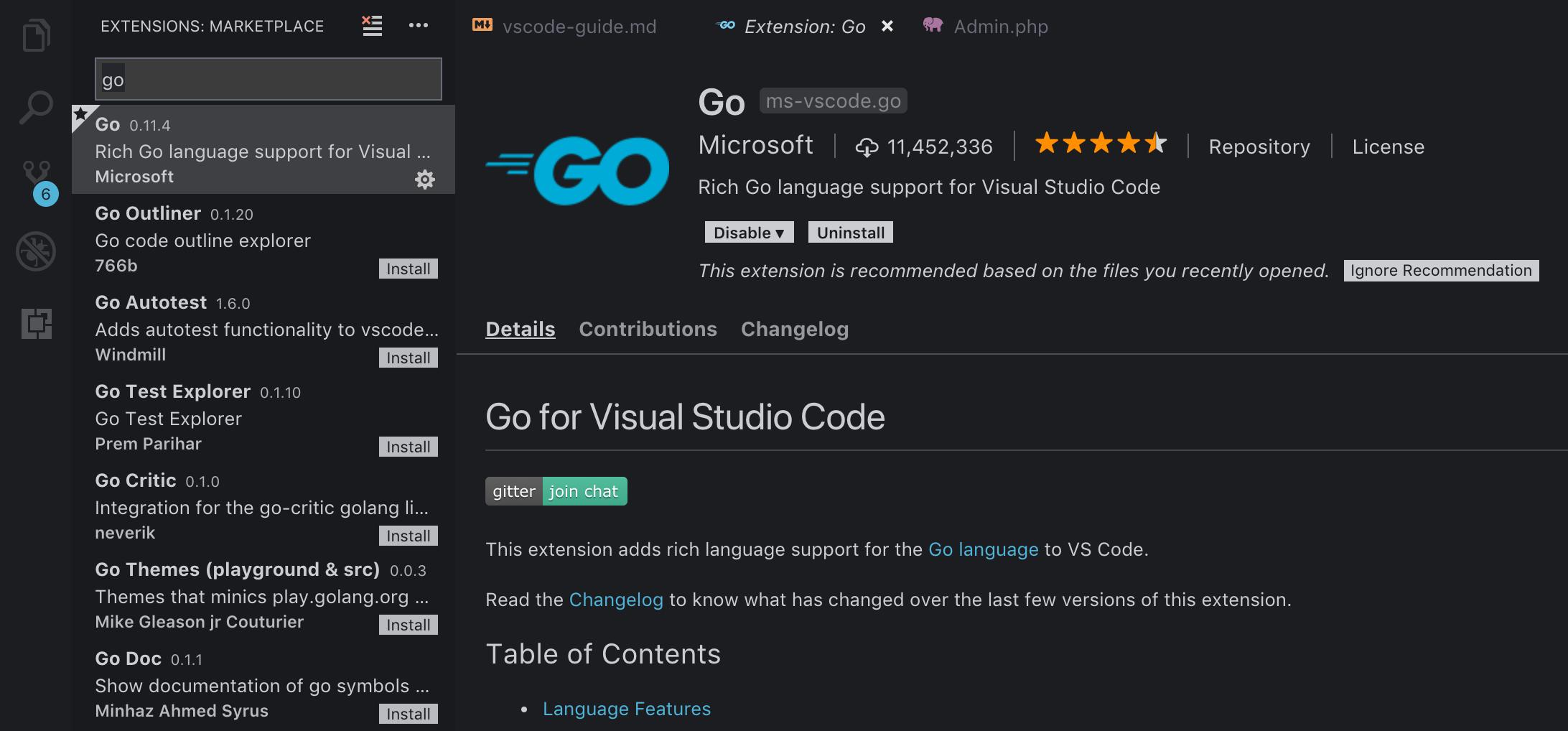 vscode-go